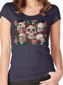 tropic skull  Women's Fitted Scoop T-Shirt