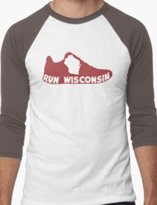 Run Wisconsin Men's Baseball ¾ T-Shirt