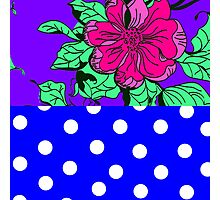Floral & Dot Photographic Print