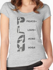 P+L+AY Poses Vertical - Charcoal Women's Fitted Scoop T-Shirt