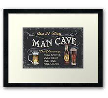 Man Cave Beer Sign Framed Print