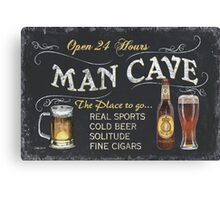 Man Cave Beer Sign Canvas Print