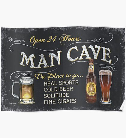 Man Cave Beer Sign Poster