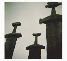 Sverd i Fjell - Monumental Scultpure in Norway - Diana 120mm Photograph One Piece - Short Sleeve