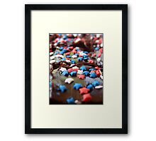 4th of July Pastry Framed Print