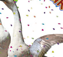 HAPPY BIRTHDAY! Celebrating Geese Sticker