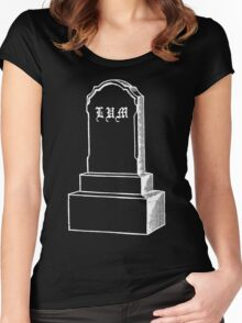 LIL UGLY MANE - RIP LUM GRAVESTONE - GONE AND FORGOTTEN TSHIRT Women's Fitted Scoop T-Shirt