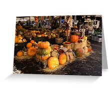 Italian Thanksgiving Harvest at Campo de Fiori in Rome, Italy Greeting Card