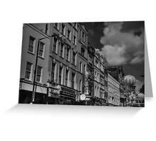 London 041 BW Greeting Card