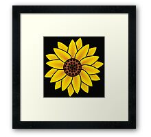 Sunflower Black Back Framed Print