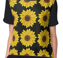 Sunflower Black Back Chiffon Top