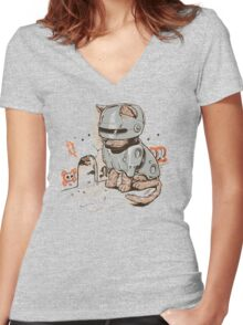 ROBOCAT Women's Fitted V-Neck T-Shirt