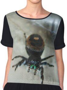 Cute Fuzzy Spider Chiffon Top