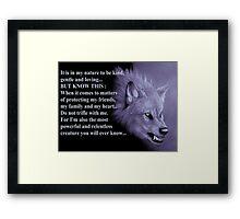 Wolf Spirit Animal  Framed Print