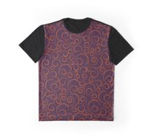 Orange Seamless Ornaments Pattern Graphic T-Shirt