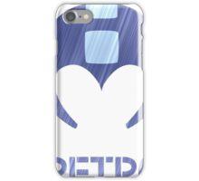 Retro - Blue Bomber Textured iPhone Case/Skin