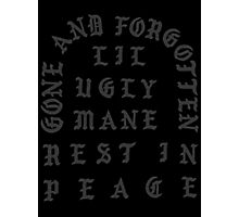 LIL UGLY MANE - GONE AND FORGOTTEN TSHIRT (HIGHEST QUALITY) Photographic Print