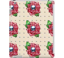 Skull Rose Peach pattern iPad Case/Skin