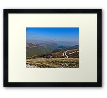 Alps Mountains Framed Print