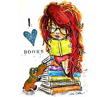 I Love Books Photographic Print