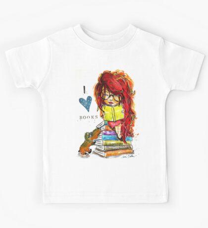 I Love Books Kids Tee