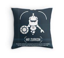 Mr Zurkon - Ratchet and Clank Throw Pillow