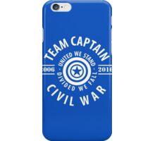 TEAM CAPTAIN - COMIC TO CIVIL WAR iPhone Case/Skin