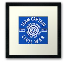 TEAM CAPTAIN - COMIC TO CIVIL WAR Framed Print