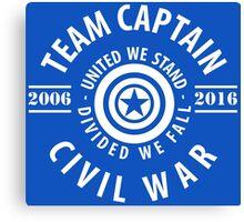 TEAM CAPTAIN - COMIC TO CIVIL WAR Canvas Print