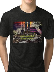 Zombie Apocalypse - leave the cities behind Tri-blend T-Shirt