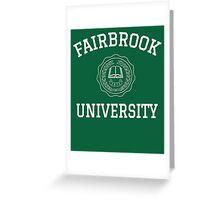 Fairbrook University Simple Greeting Card