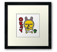 KakaoTalk Muzi and Con Framed Print