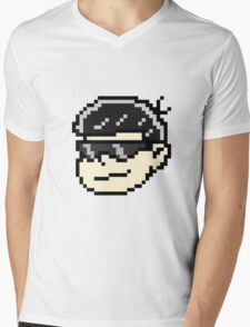Pixel- Karamatsu Painful Face Mens V-Neck T-Shirt