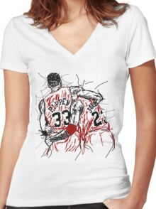 "Scottie Pippen and Michael Jordan ""Flu Game"" Women's Fitted V-Neck T-Shirt"