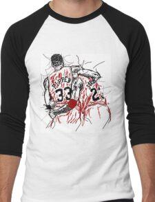 "Scottie Pippen and Michael Jordan ""Flu Game"" Men's Baseball ¾ T-Shirt"