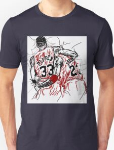 "Scottie Pippen and Michael Jordan ""Flu Game"" Unisex T-Shirt"