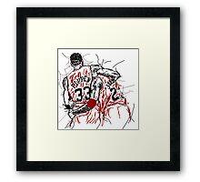"Scottie Pippen and Michael Jordan ""Flu Game"" Framed Print"