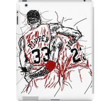 "Scottie Pippen and Michael Jordan ""Flu Game"" iPad Case/Skin"
