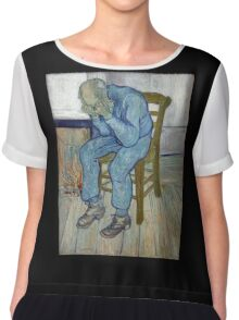 'At Eternity's Gate' by Vincent Van Gogh (Reproduction) Chiffon Top