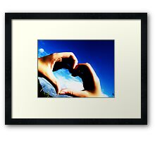 Hold my heart in your hands Framed Print