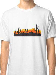 desert evening night sunset sunrise kakten cactus hot hot Classic T-Shirt