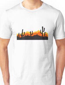 desert evening night sunset sunrise kakten cactus hot hot Unisex T-Shirt
