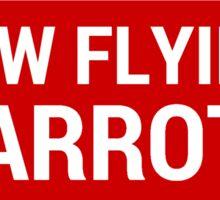 Low Flying Parrots Sticker