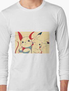 Raichu and Pikachu Long Sleeve T-Shirt