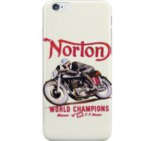 NORTON MOTORCYCLE VINTAGE ART iPhone Case/Skin