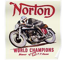 NORTON MOTORCYCLE VINTAGE ART Poster