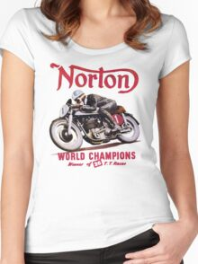 NORTON MOTORCYCLE VINTAGE ART Women's Fitted Scoop T-Shirt
