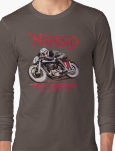 NORTON MOTORCYCLE VINTAGE ART Long Sleeve T-Shirt