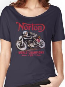 NORTON MOTORCYCLE VINTAGE ART Women's Relaxed Fit T-Shirt