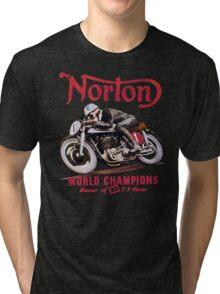 NORTON MOTORCYCLE VINTAGE ART Tri-blend T-Shirt